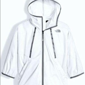 North face Girls XL windbreaker white waterproof